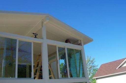 step by step sunroom building - 14