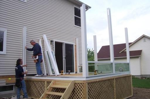 step by step sunroom building - 2