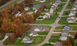 Aerial photo of a section of Falcon Bridge neighborhood