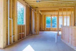 Photo of interior of a home under construction
