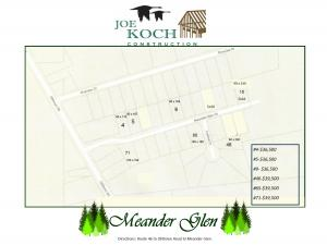Meander glen plat map