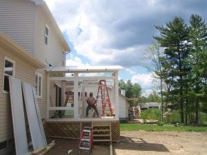 step by step sunroom building - 11