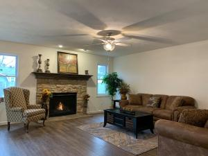 open living area of model home on signature drive austintown