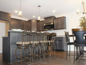 kitchen of model home on signature drive austintown
